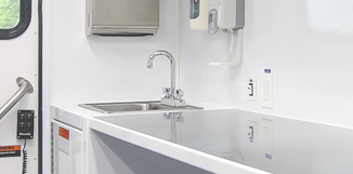 Frazer Mobile Clinic Sink
